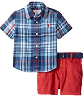 Ralph Lauren Baby - Yarn-Dyed Cotton Plaid Shorts Set (Infant)