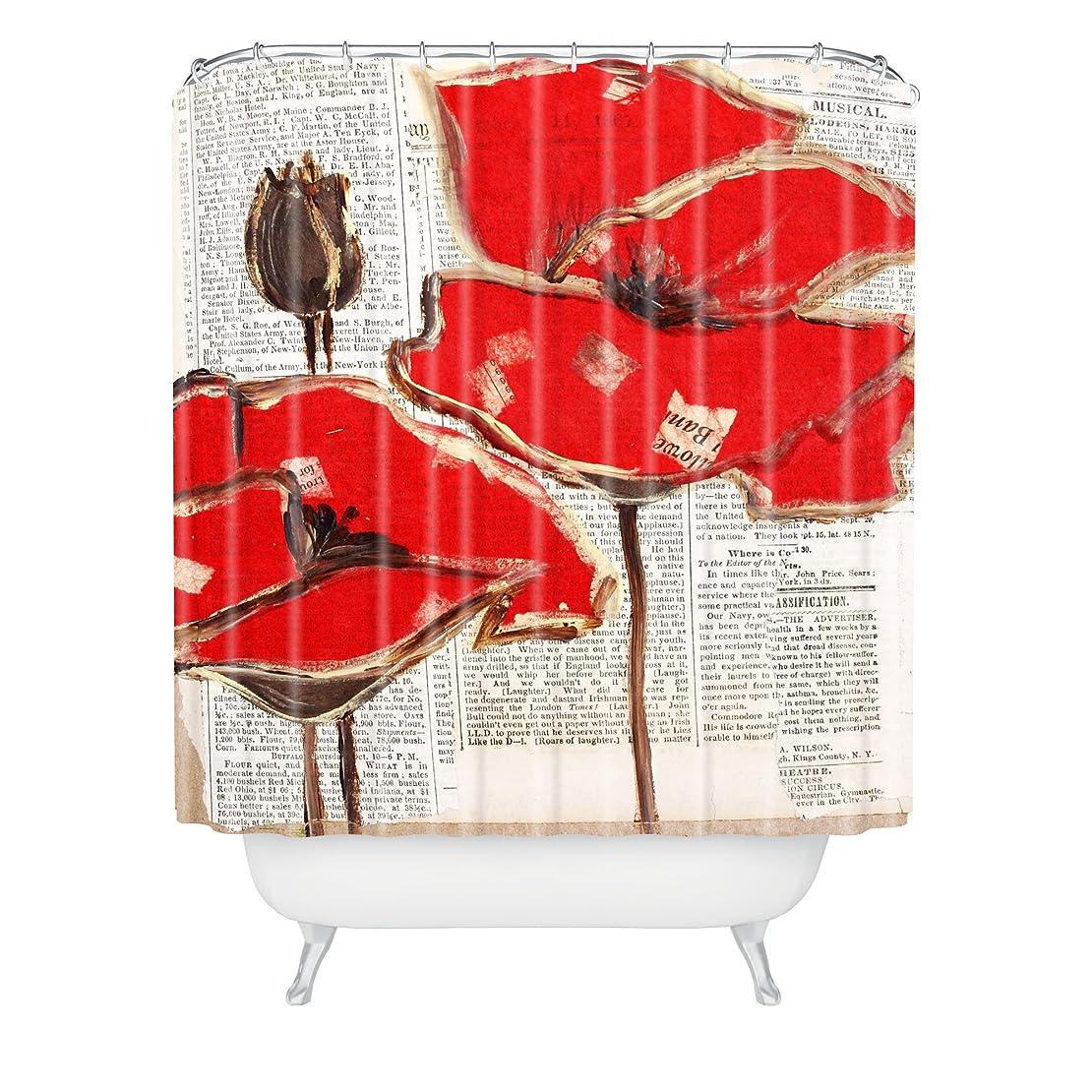 解決する一過性ペダルDENYデザインIrena OrlovレッドPerfectionシャワーカーテン