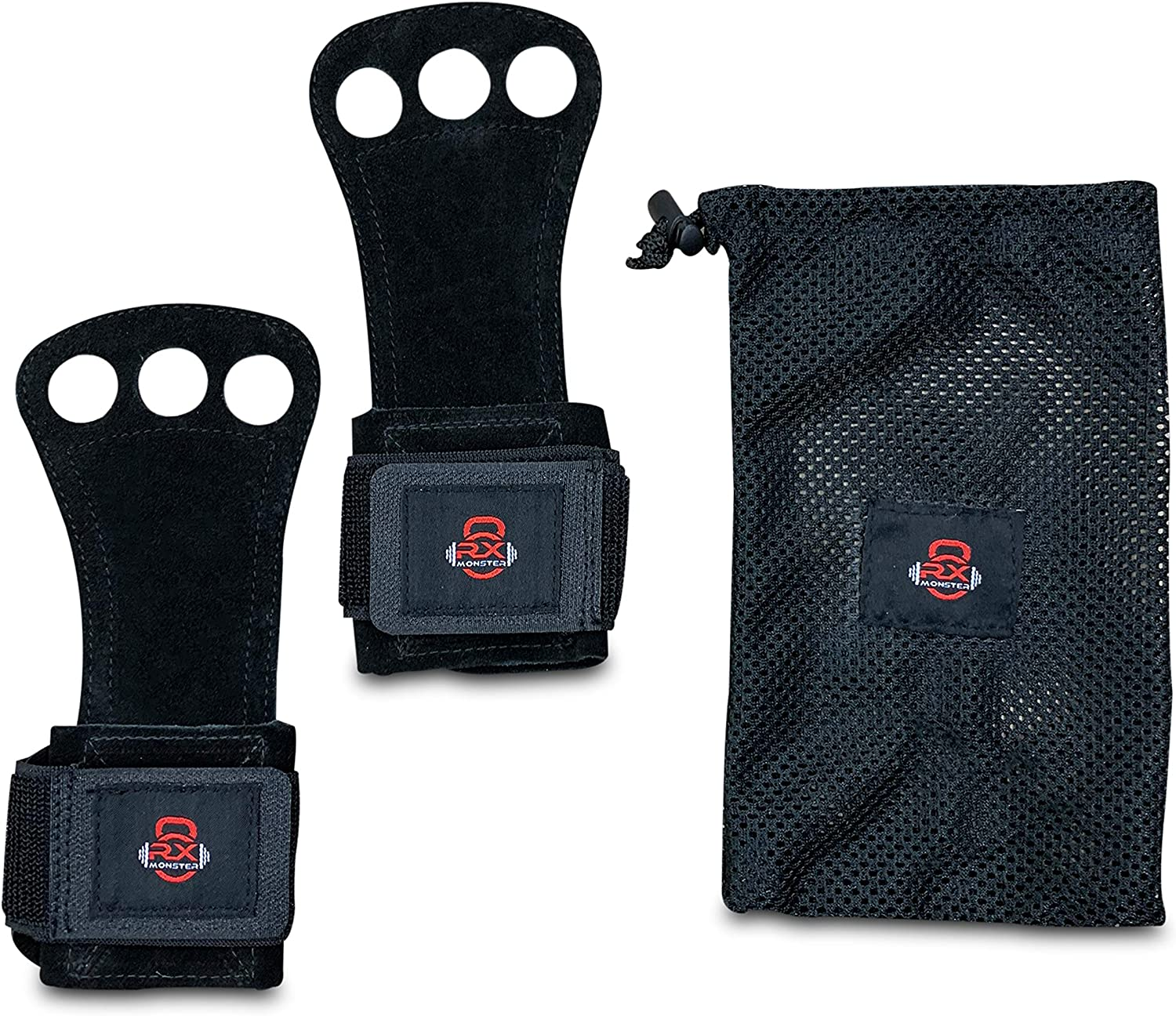 RX Monster 3 Hole Cross Finally resale start Fitness Max 52% OFF Grips Hand Gloves Gymnas and for