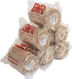 Ever Ready First Aid Self Adherent Cohesive Bandages 3 x 5 Yards - 6 Count, Tan