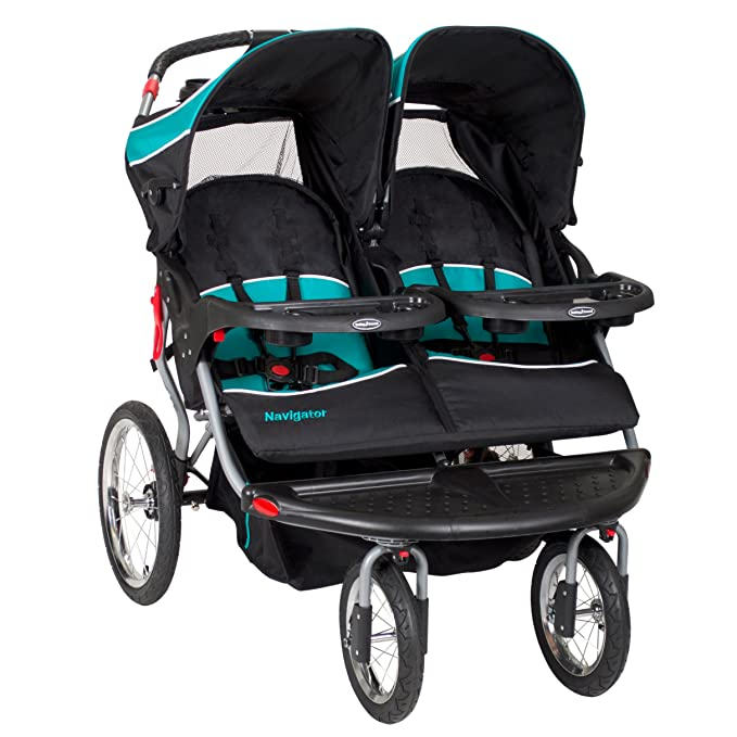 Baby Trend Navigator Double Jogger Stroller - Best Car Seat Compatible Double Stroller