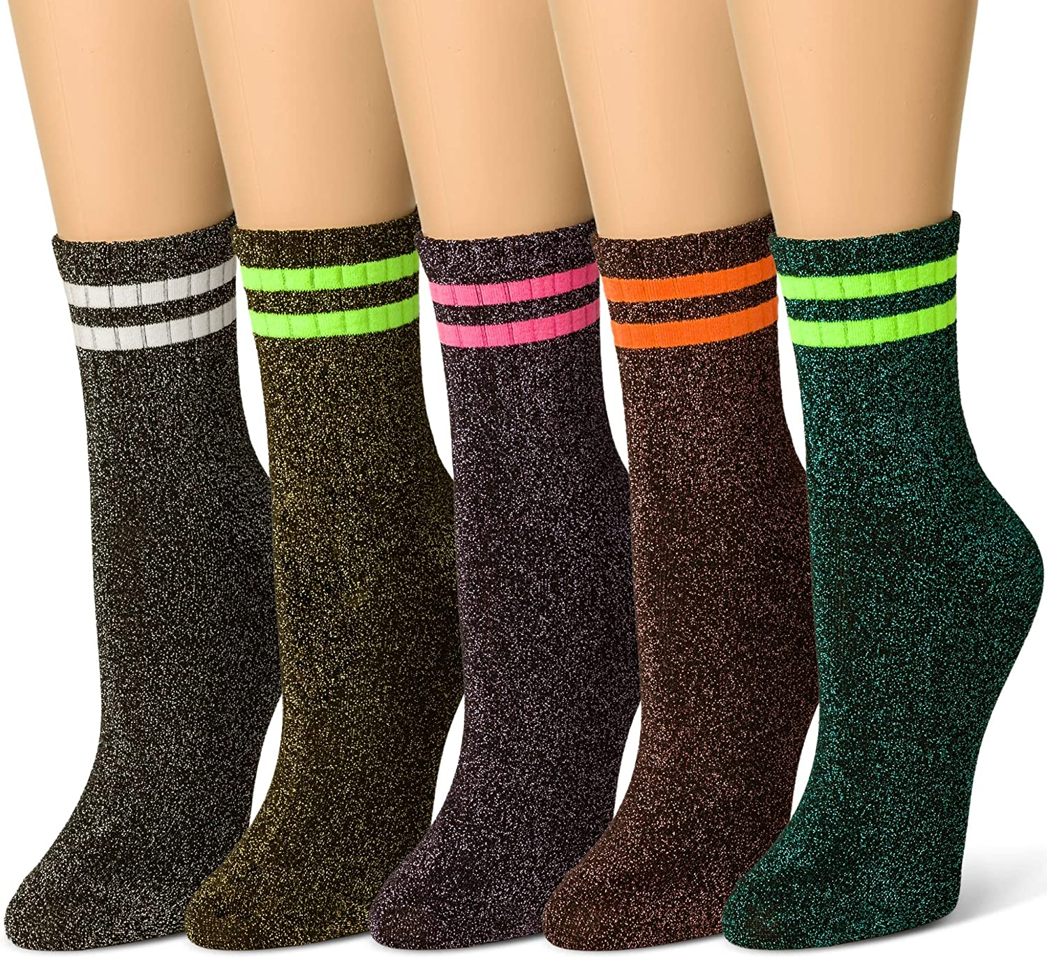 Sheec  Metallic Glitter Shimmer Sparkle Fashion Socks (Various Styles)