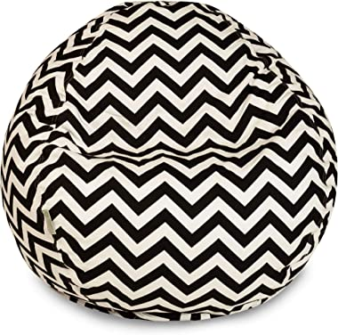Majestic Home Goods Chevron Large Classic Bean Bag Chair, Black