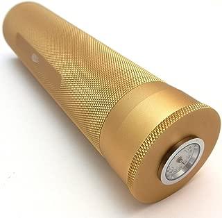 Mrs. Brog Cigar Travel Humidor - Built In Hygrometer & Humidifier - Holds Multiple Cigars - Gold