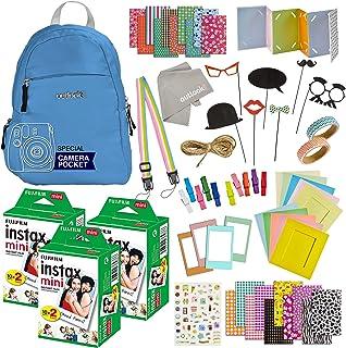 100 Piece Instax Mini 9 Mini 11 Camera Accessories - Travel Kit Bundle-Backpack Shoulder Bag, 60 Sheets Instant Film, Lens...
