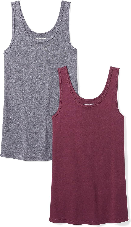 Essentials Damen 2-Pack Slim-fit Tank Hemd 2er Pack