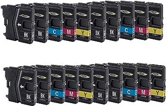 Wintinten Paquete de 20 Reemplazo para Cartucho de Tinta Compatible Brother LC985 para impresoras Brother DCP-J125 DCP-J315W DCP-J515W MFC-J265W MFC-J410 DCP-J140W MFC-J415W MFC-J220 MFC-J410