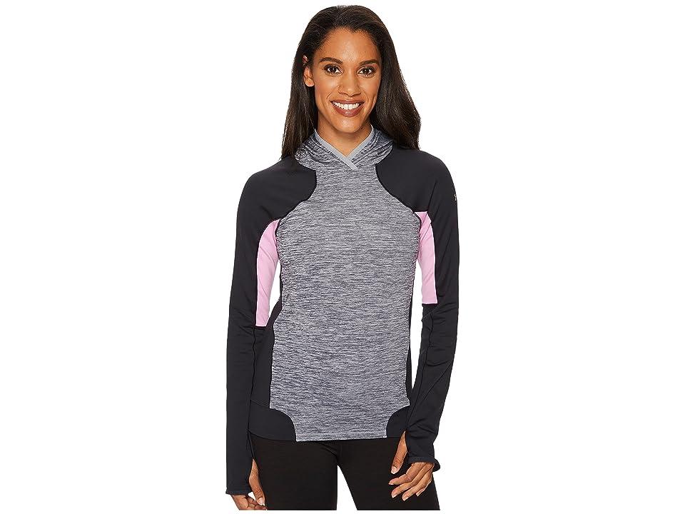 Under Armour UA Coldgear(r) Armour Pullover Hoodie (True Gray Heather/Black/Metallic Silver) Women's Sweatshirt