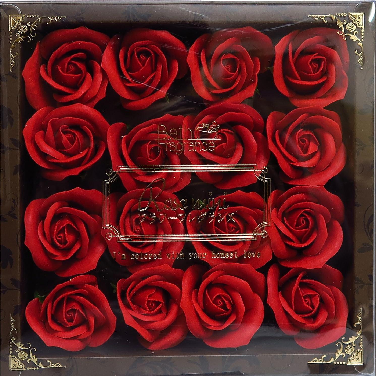 騒ぎひいきにする沈黙バスフレグランス バスフラワー ミニローズフレグランス(M)レッド ギフト お花の形の入浴剤 プレゼント ばら