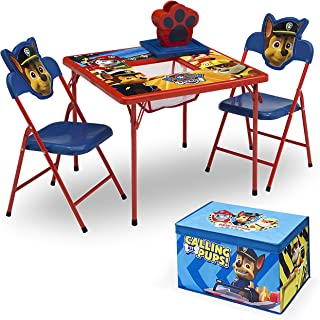 Delta Children 4-Piece Kids Furniture Set (2 Chairs and Table Set & Fabric Toy Box), Nick Jr. PAW Patrol