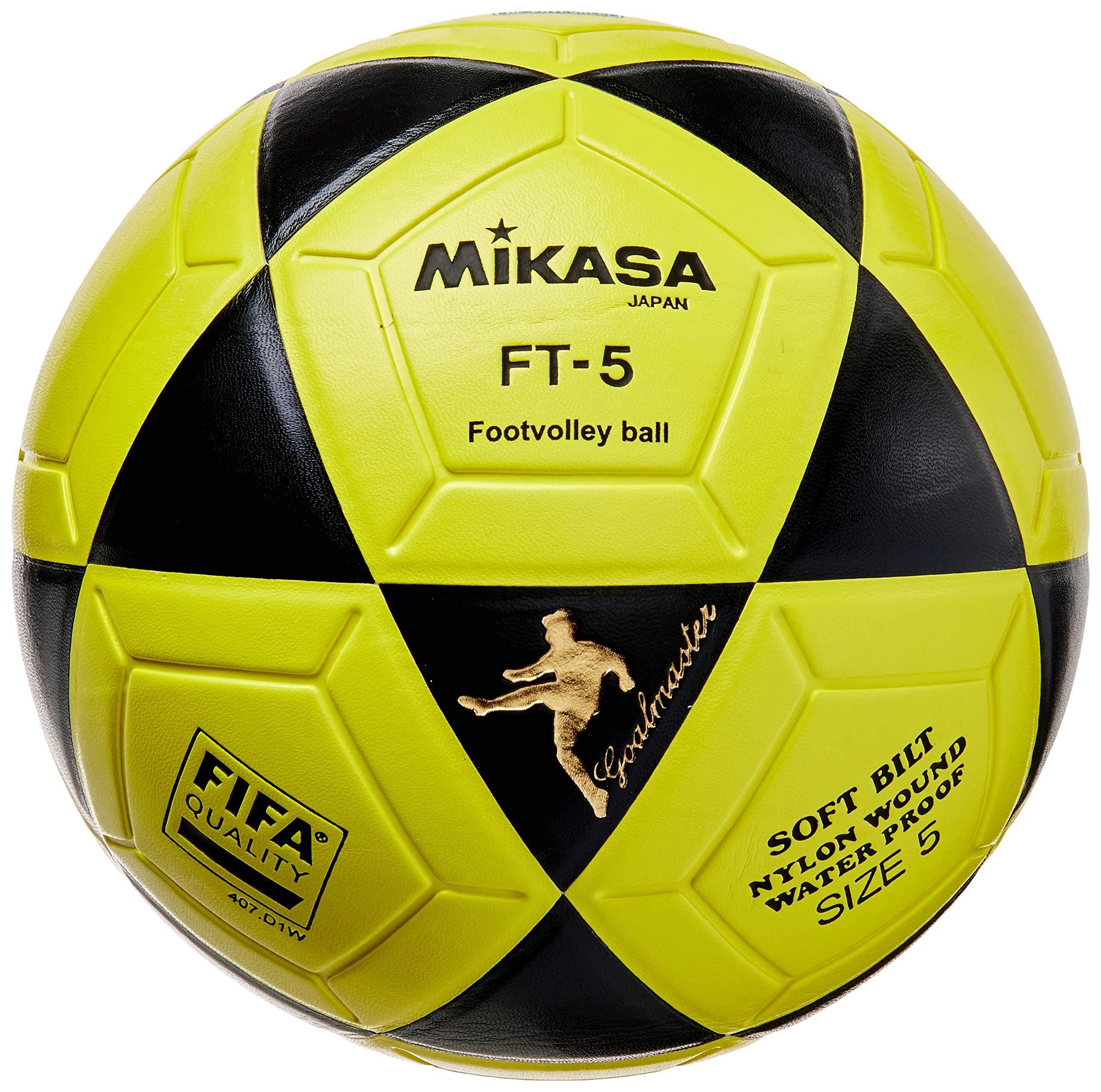 MIKASA Ball Ft-5 Bky F- Balón de fútbol, Color Negro y Amarillo ...