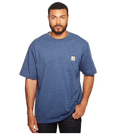 Carhartt Workwear Pocket S/S Tee K87 (Dark Cobalt/Blue Heather) Men