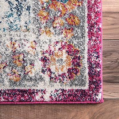 "nuLOOM Leilani Persian Area Rug, 6' 7"" x 9', Pink"