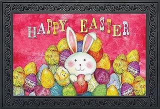 Briarwood Lane Happy Easter Doormat Indoor Outdoor Bunny Eggs Holiday 18