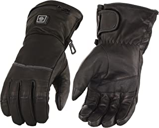 Milwaukee Leather Men's Heated Gantlet Glove w/Touch Screen-Black-Large