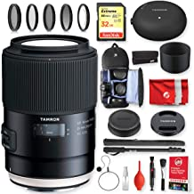 Tamron SP 90mm F/2.8 Di VC USD 1:1 Macro Lens for Nikon Cameras with Tap-in Console + Sandisk Extreme 32GB Memory + Backpack Essentials Bundle (20pc)(Tamron 6 Year Limited USA Warranty)