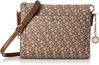DKNY womens Handbags & Shoulder Bags Bryant Med Bx Crsbdy ,Multicolour (CVU - CHINO LOGO-VIC) (R74EJ005)