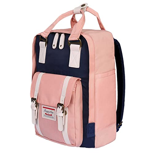 ISIYINER Casual Backpack Durable School Bag Rucksack Waterproof Nylon  Daypack for Shopping Outdoor Travel Hiking for 49d6ccba49