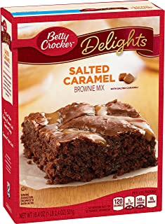 Betty Crocker Delights, Salted Caramel Brownie Mix, 18.9 Oz Box (Pack of 8)