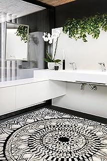 Vallila Mosaiikki Textured Chenille Rug, 140x200 cm, Black, 140 x 200 cm