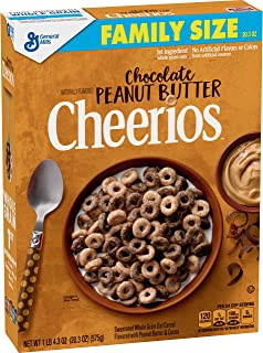 Chocolate Peanut Butter Cheerios Family Size Naturally Flavored, 20.3 Ounce (Pack of 12)