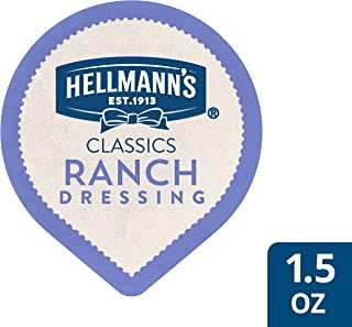 Hellmann's Classics Ranch Dressing Dip Cups Gluten Free, No Artificial Flavors, Colors, added MSG or High Fructose Corn Syrup, 1.5 oz, Pack of 108