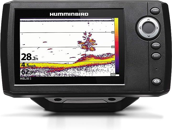Sonar g2 fishfinder system 4000 watt humminbird 410190-1 helix 5 series