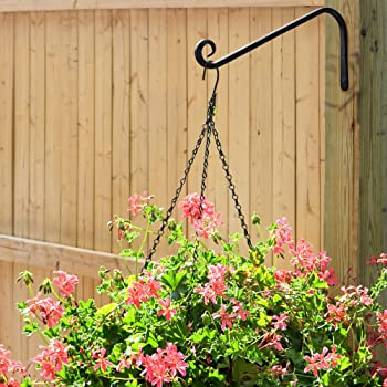 Gray Bunny Hand Forged Wall Hook for Bird Feeders, Planters, Lanterns, Wind Chimes, As Wall Brackets and More! (1-Pac...