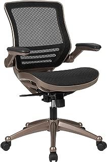 Flash Furniture Mid-Back Transparent Black Mesh Executive...