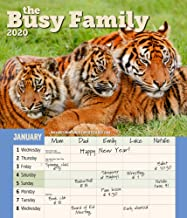 Busy Family Wall Calendar 2020 Monthly January-December 14'' x 12