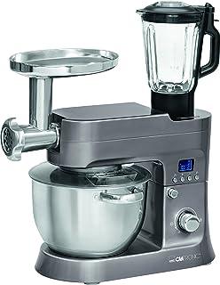 comprar comparacion Clatronic KM 3674 Robot de Cocina Multifunción, Batidora Amasadora, 1200 W, 6.2 Litros, Acero Inoxidable, Titanio