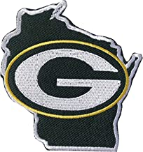 Hipatch Green Bay Packers Football Map Embroidered Patch Iron on Logo Vest Jacket Cap Hoodie Backpack Patch Iron On/sew on Patch