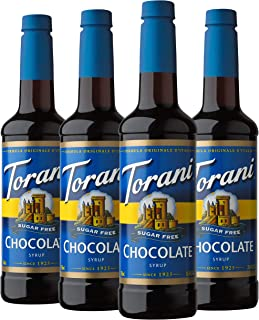 Torani Sugar Free Syrup, Chocolate, 25.4 Ounces (Pack of 4)