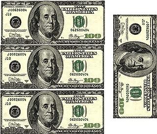 Edible 100 Dollar Bills Frosting Sheet. Real Looking Edible Money,Green - D22887