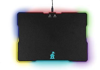 لوحة ماوس ماعز مع تأثيرات إضاءة LED - سطح كبير السرعة مع محيط وإضاءة خلفية وشعار للالعاب - حصيرة ماوس صلبة مثالية لجميع حس...