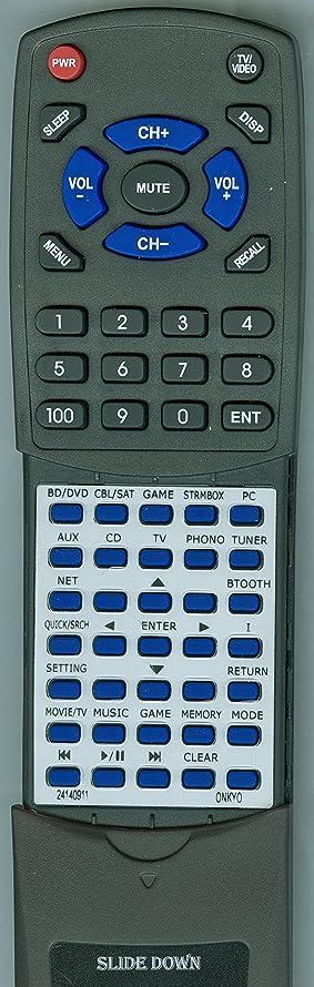 Replacement Remote for Onkyo RC-911R, TXNR555, TXNR656