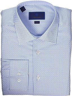 Trim Fit Textured Bold Basket Dress Shirt