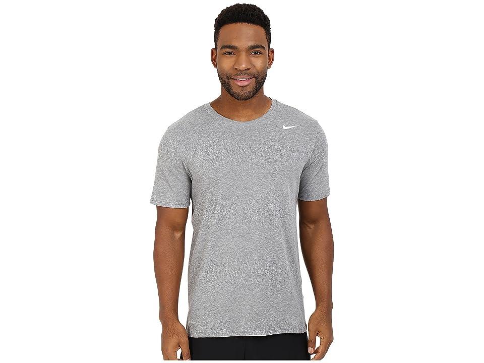 Nike Dri-FITtm Version 2.0 T-Shirt (Carbon Heather/Carbon Heather/White) Men