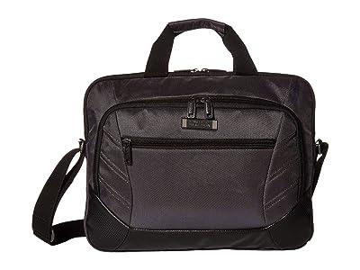 Kenneth Cole Reaction 15.6 Castle Rock Slim Double Compartment Laptop Tablet Business Case Bag (Gray) Luggage