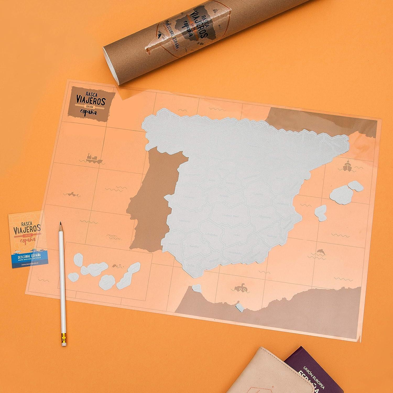 Mapa rascable España (Blanco): Amazon.es: Hogar