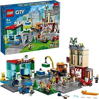 LEGO 60292 City Stadscentrum Bouwset met een Speelgoedmotor, Fiets, Vrachtwagen, Rijplaten en 8 Minifiguren