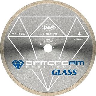 QEP 6-7006GLQ 7-Inch Continuous Rim Glass Tile Diamond Blade, 7mm Rim Height, 5/8-Inch..