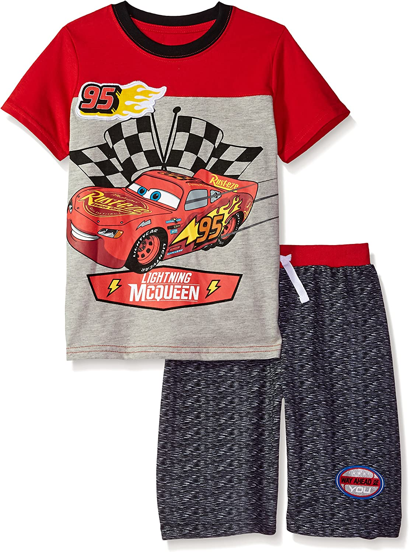 Disney Boys Cars Crew Neck Short Set