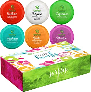 Bath Bombs Kids Gift Set - Big Ball Fizzy Bath Bombs With Toys Surprise Inside Gift Box Idea for Girls and Boys Bubble Bath Natural Aromatherapy Kid Boms for Bathbomb Kit Shea Packaging May Vary