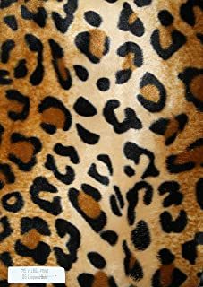Velboa Animal Print Faux / Fake Fur Leopard Gold Fabric By the Yard by Fabric Drapery