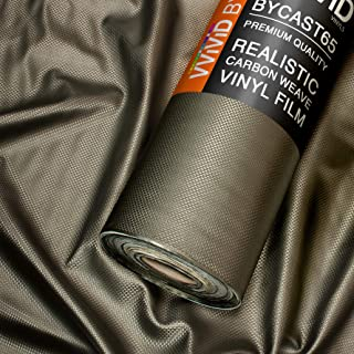 VViViD Bycast65 Black Twill Weave Faux Leather Marine Vinyl Fabric (1.5ft x 54