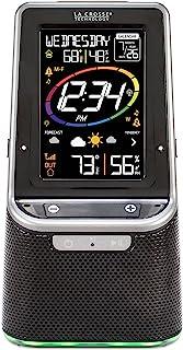 La Crosse Technology Estación meteorológica inalámbrica a color S87078 con altavoz Bluetooth y puerto USB