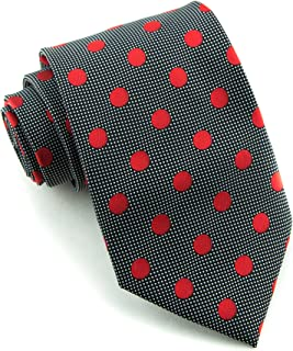 Littlest Prince Couture Raven & Ruby Dot Youth Necktie