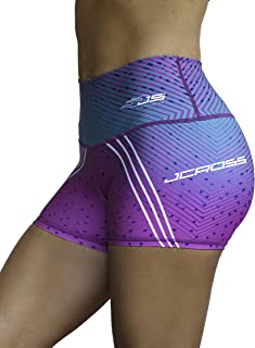 Jcross Leggings High Waist with Mesh for Women Activewear Gym Workout Compression Tummy Control Micro Fiber