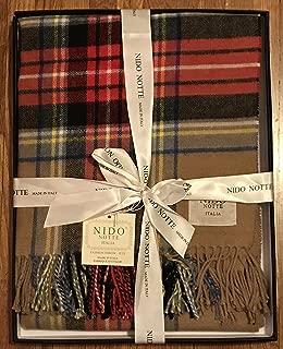 NIDO NOTTE ITALIA Luxury Throw Blanket Plaid 51